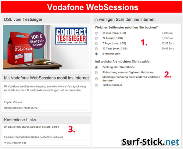 vodafone websessions prepaid surfstick noch konkurrenzf hig. Black Bedroom Furniture Sets. Home Design Ideas