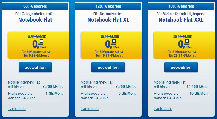 1&1 Notebook Flat im Juni 6 Monate gratis
