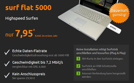 Crash-Tarife Sonderaktion mit Surfstick