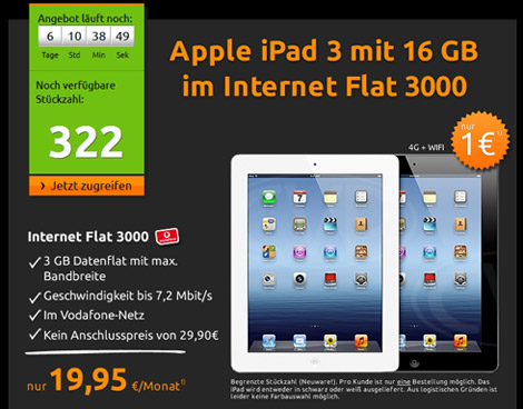 Crash iPad 3 Angebot